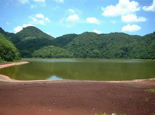 The Mount Rosser bauxite tailings pond, St. Catherine's, Jamaica.