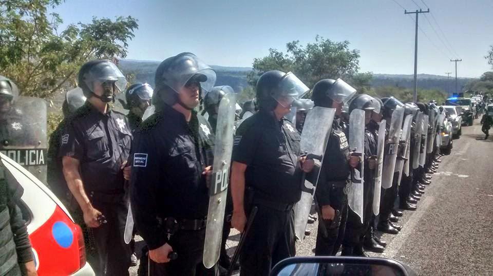 Zacualpan police - Presencia policial en Zacualpán