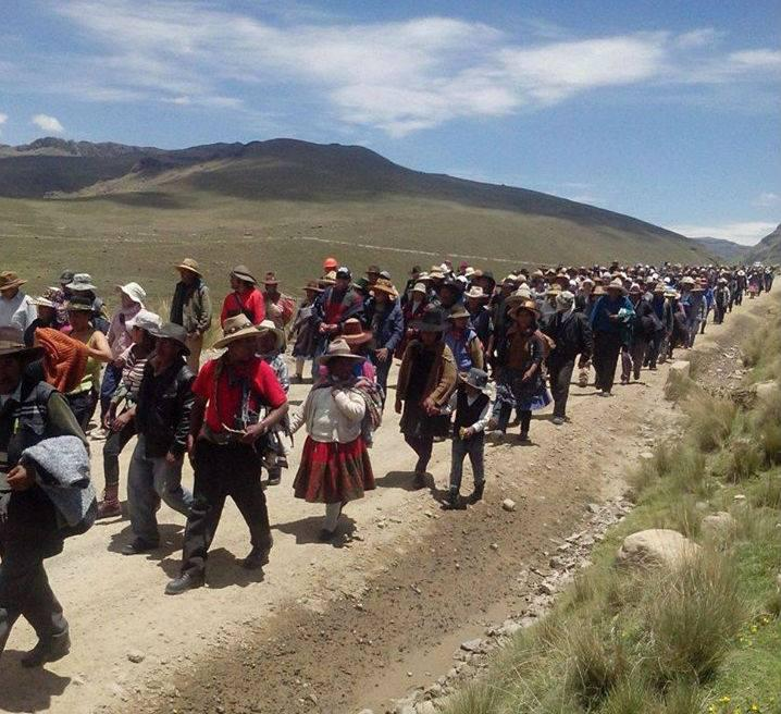 Thousands Demonstrate Against HudBay's Constancia Mine