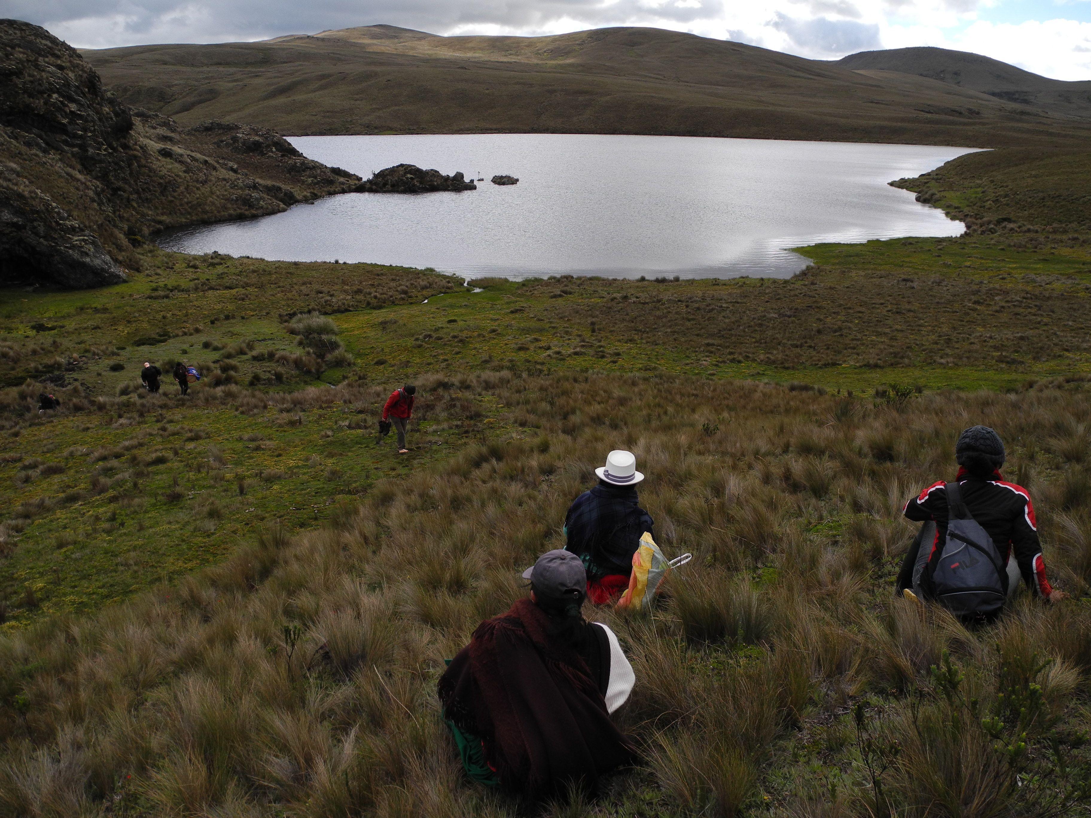 Lagoon in Kimsacocha