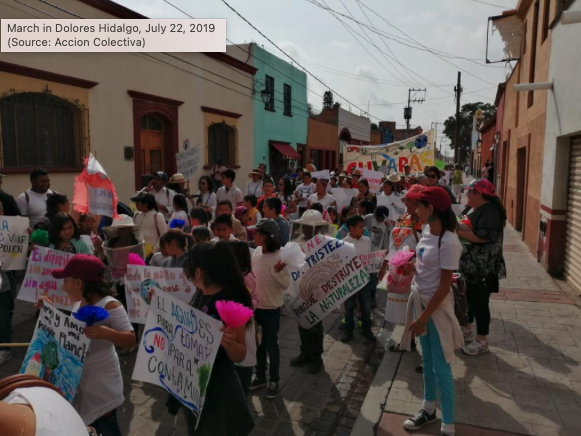 Marcha en Dolores Hidalgo