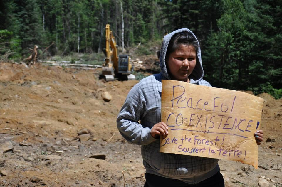 Logging protest in territory of Barriere Lake.