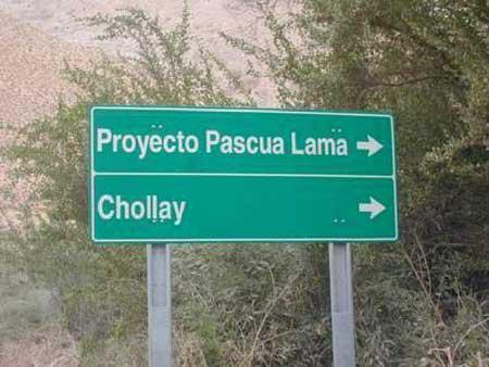 Rótulo Pascua Lama - Chollay