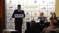 Ecuadorian Undersecretary of Mining Henry Troya Presents at PDAC 2017; Photo: MiningWatch