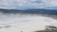 Mine Tailings Waste Dust Storm in BC