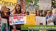 Protest in Canada against the ISDS case
