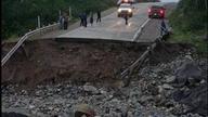 Abandoned Mine Waste Spill Destroyed Road