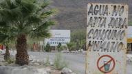 Water sign outside La Platosa mine