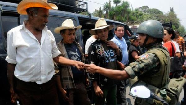 Represión en Guatemala