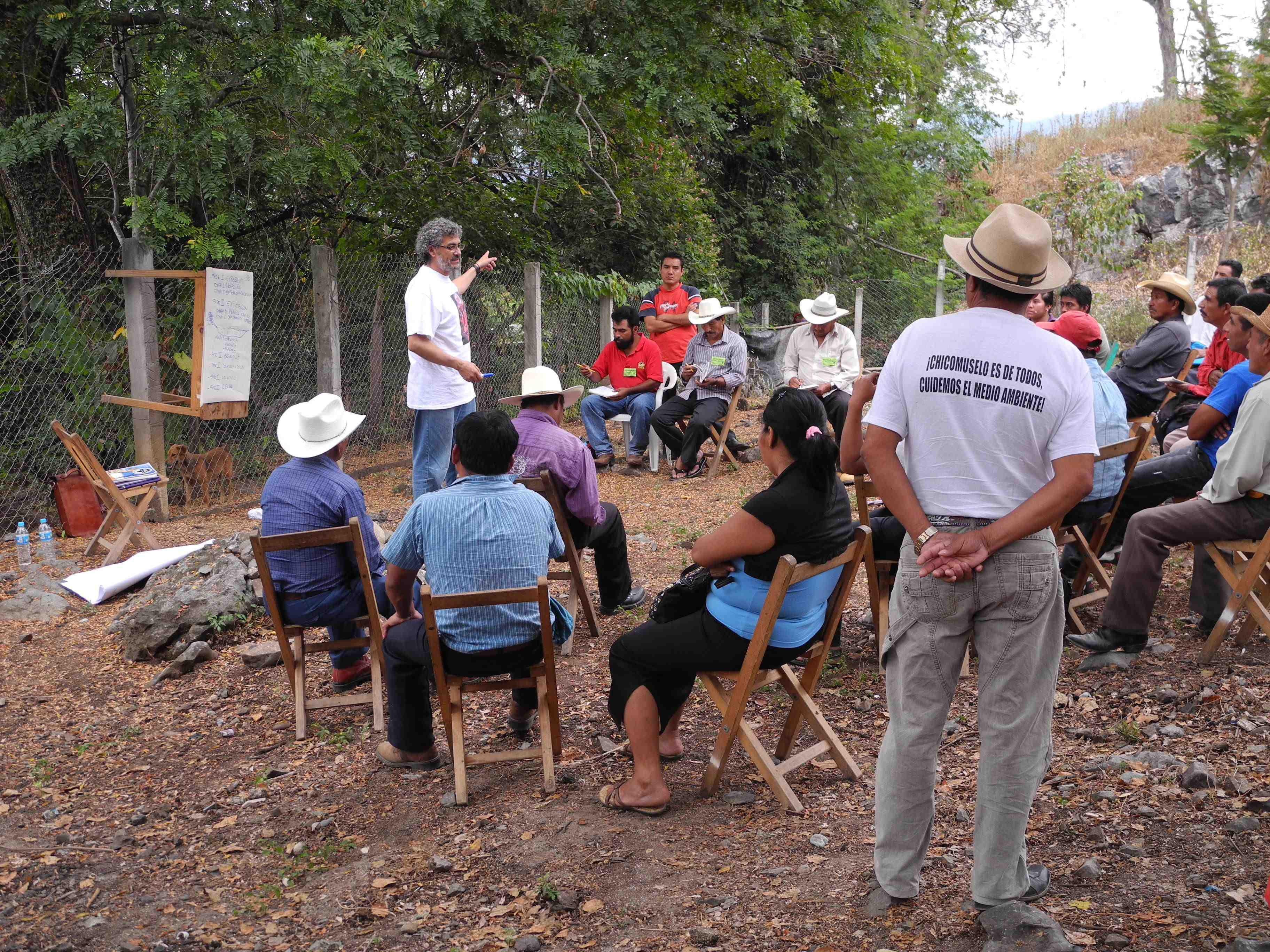 Community meeting in Chiapas, Mexico with Gustavo Castro