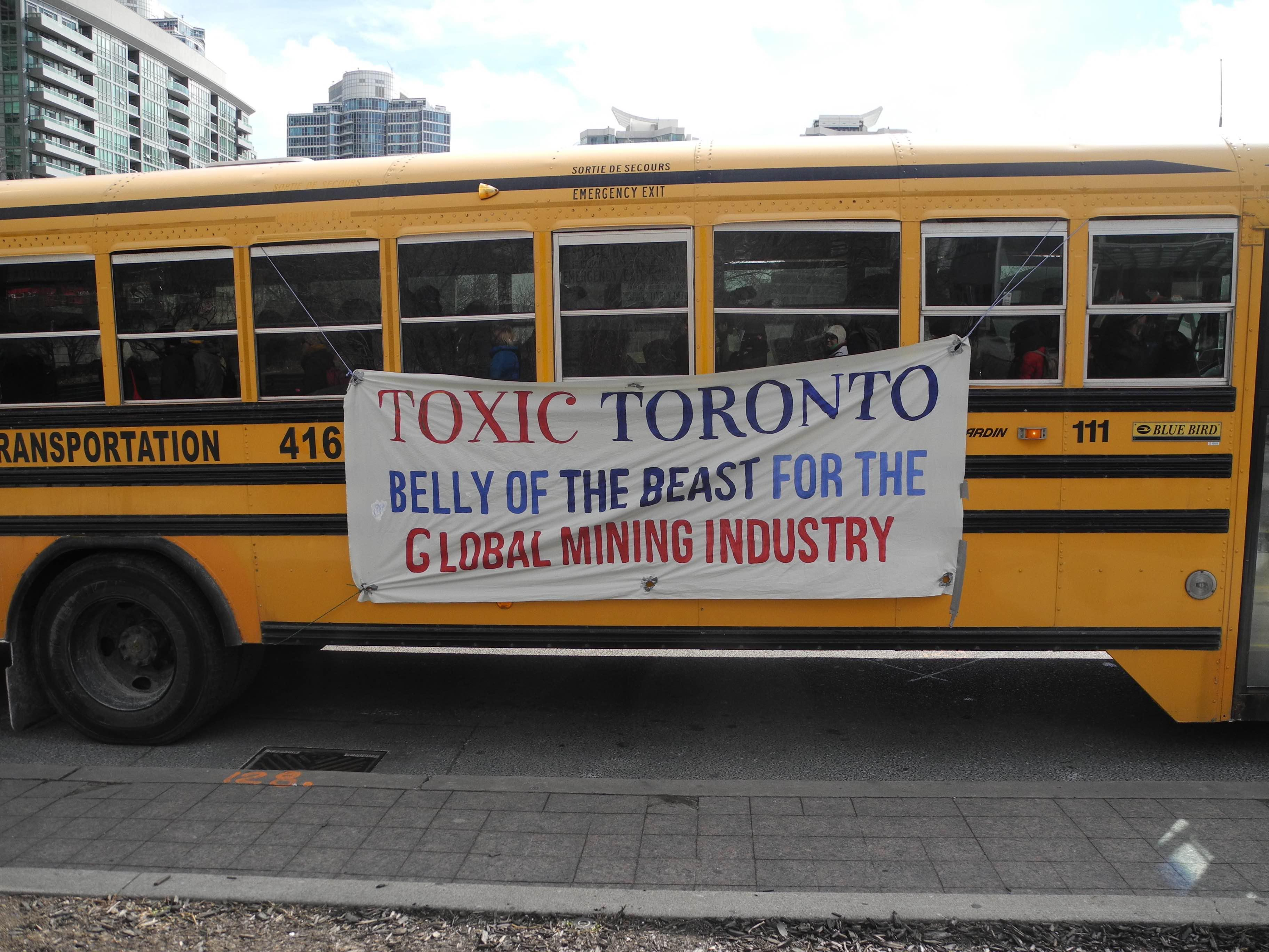'Toxic Toronto' bus tour; a trip through the mining industry's belly of the beast