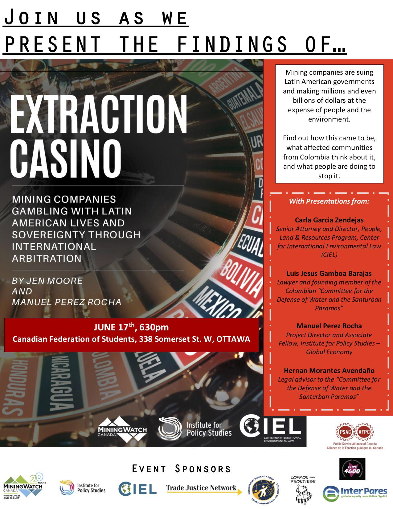 Extraction Casino Ottawa event poster
