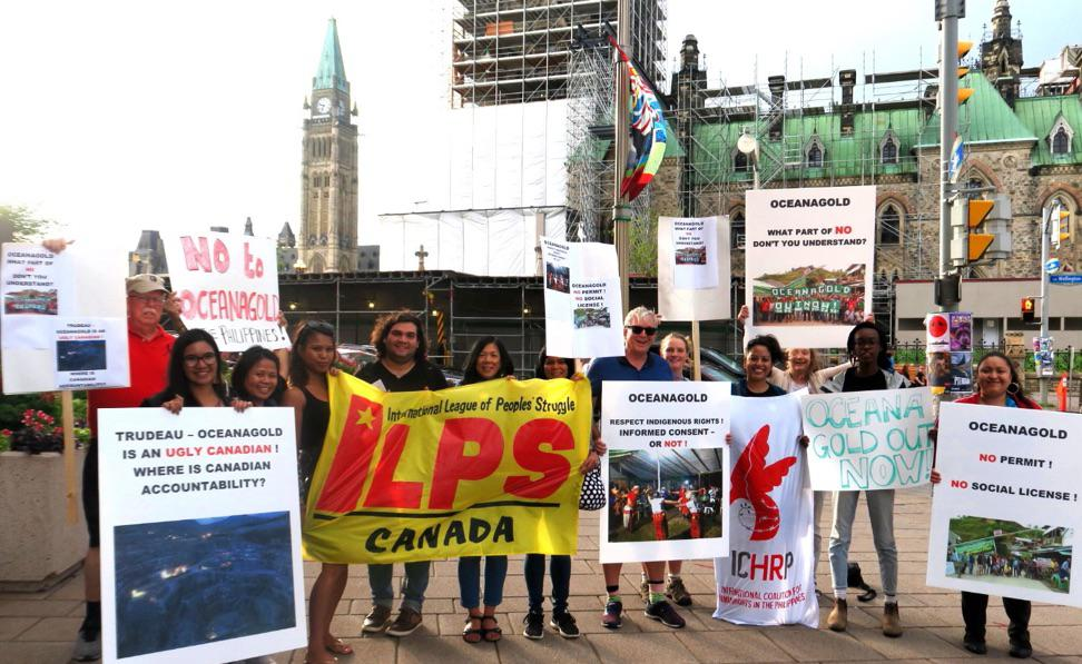 Ottawa protest against OceanaGold