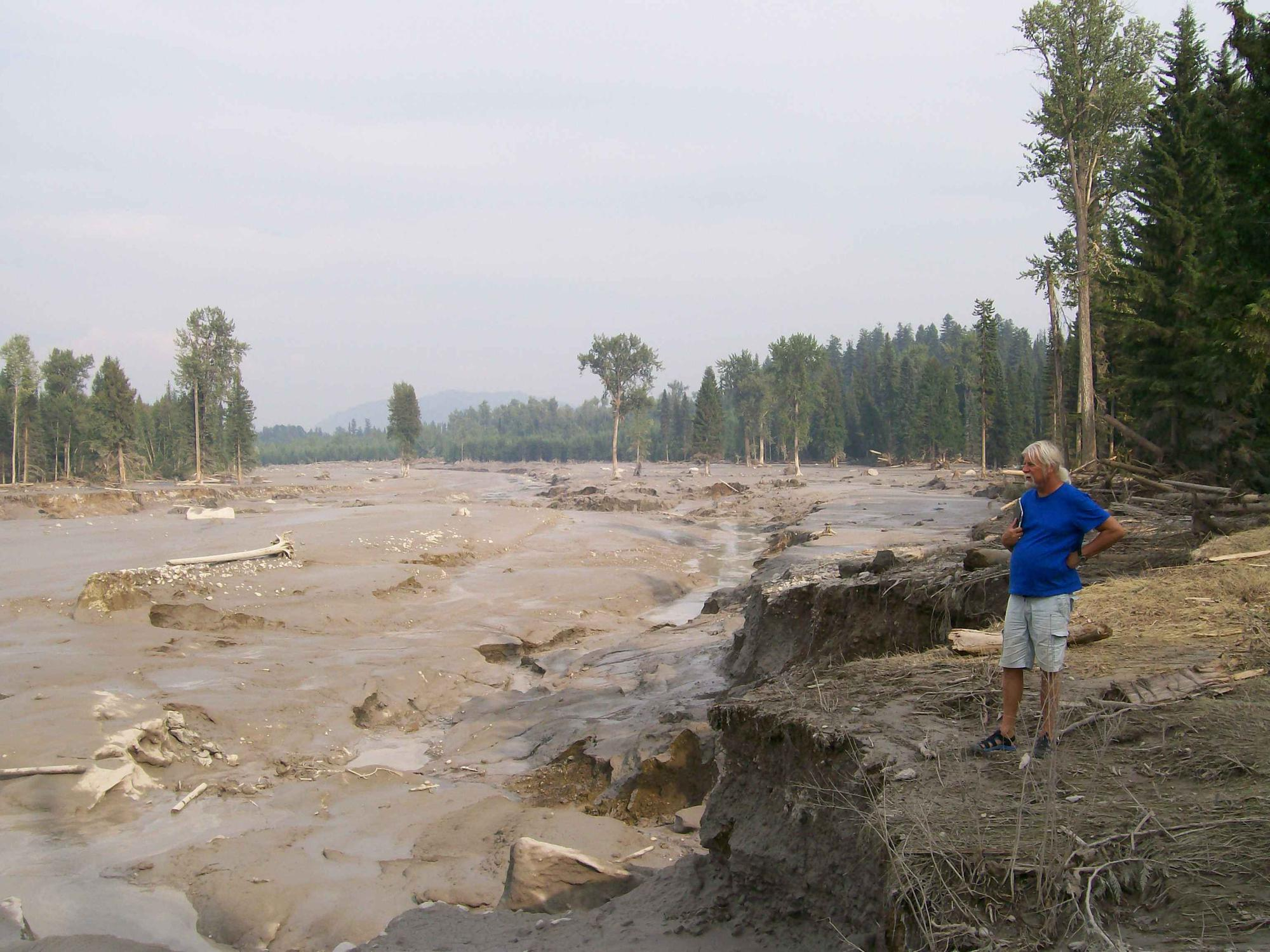 Hazeltine Creek after the spill (photo by Chris Blake)