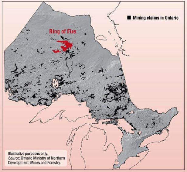 Ring of Fire location map