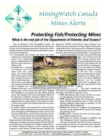 Protecting Fish/Protecting Mines - One Page English Summary