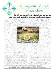 Protecting Fish/Protecting Mines - One Page French Summary