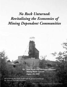 No Rock Unturned: Revitalizing the Economies of Mining Dependent Communities