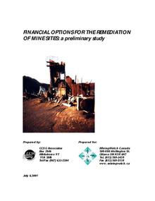 Financial Options for the Remediation of Mine Sites: A Preliminary Study
